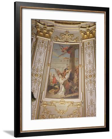 Martyrdom of St. John, Bishop of Bergamo-Giovanni Battista Tiepolo-Framed Art Print