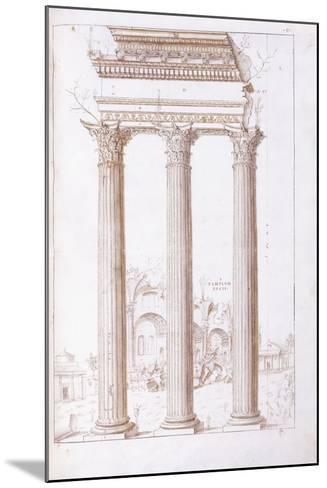The Columns of the Temple of Castor and Pollux-Giulio Romano-Mounted Giclee Print