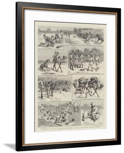 Transport in the Australian Interior, Camels and their Afghan Drivers-Godefroy Durand-Framed Art Print