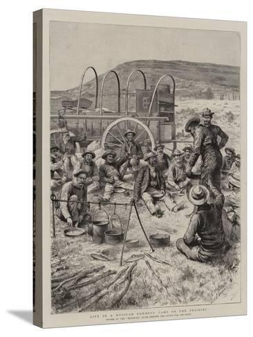 Life in a Mexican Cowboys' Camp on the Prairies-Godefroy Durand-Stretched Canvas Print
