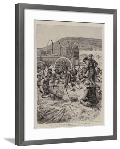 Life in a Mexican Cowboys' Camp on the Prairies-Godefroy Durand-Framed Art Print
