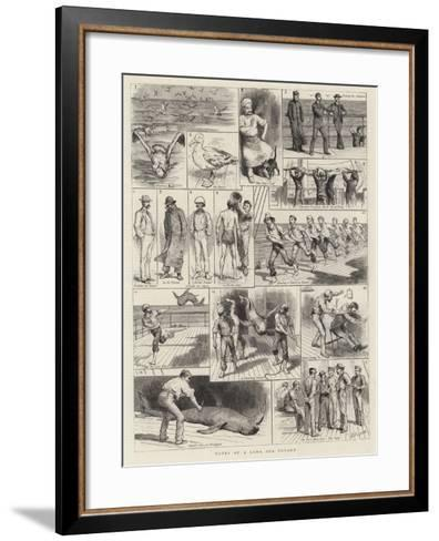 Notes of a Long Sea Voyage-Godefroy Durand-Framed Art Print