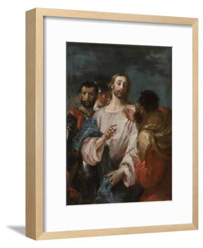 The Tribute Money, Early 1740s-Giuseppe Bazzani-Framed Art Print