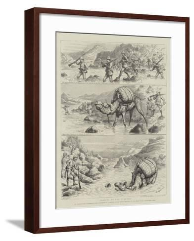 Fording on the Frontier-Godefroy Durand-Framed Art Print