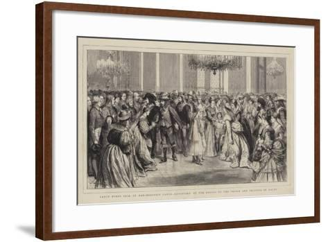 Fancy Dress Ball at Marlborough House, Reception of the Guests by the Prince and Princess of Wales-Godefroy Durand-Framed Art Print