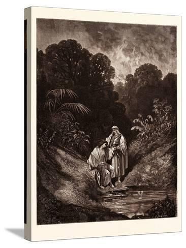David and Jonathan-Gustave Dore-Stretched Canvas Print