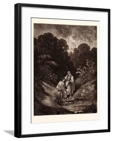 David and Jonathan-Gustave Dore-Framed Art Print