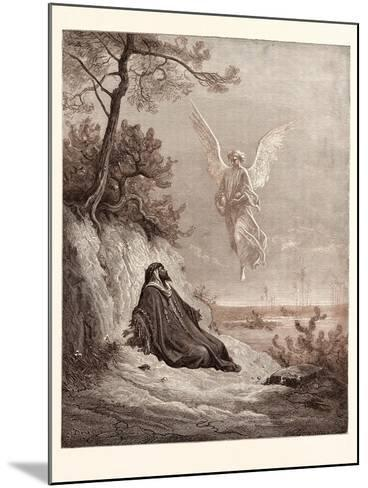 Elijah Nourished by an Angel-Gustave Dore-Mounted Giclee Print