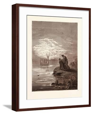 The Coming of the Boat-Gustave Dore-Framed Art Print