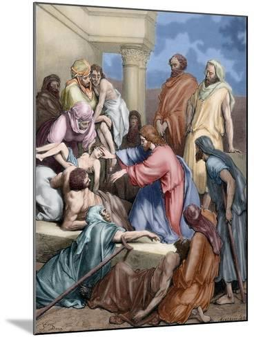 Jesus Healing the Sick-Gustave Dore-Mounted Giclee Print