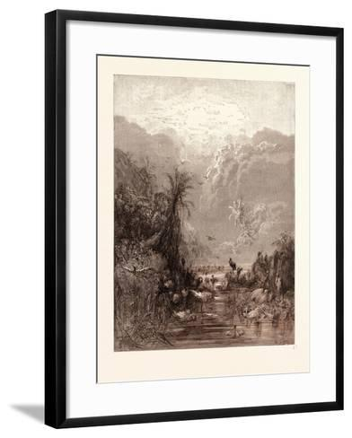 The Creation of Birds-Gustave Dore-Framed Art Print