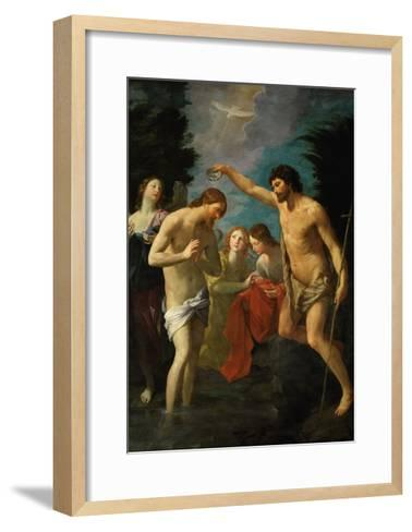 The Baptism of Christ, 1623-Guido Reni-Framed Art Print