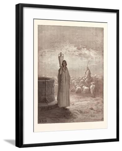Jacob Killing Laban's Flocks-Gustave Dore-Framed Art Print