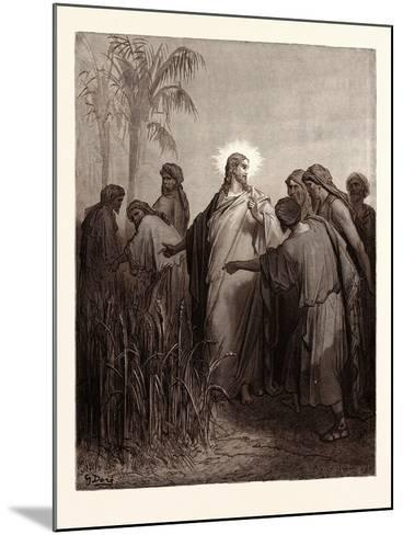 Jesus and His Disciples in the Corn Field-Gustave Dore-Mounted Giclee Print