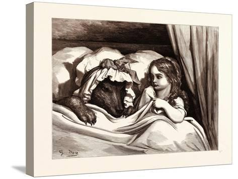 The Disguised Wolf-Gustave Dore-Stretched Canvas Print