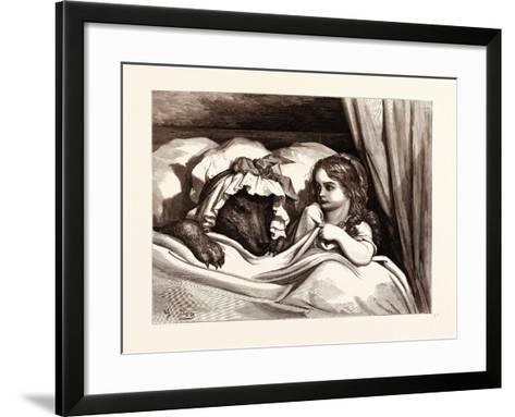 The Disguised Wolf-Gustave Dore-Framed Art Print