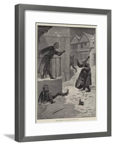 Christmas Greetings, All Things Come to Him Who Waits-Gordon Frederick Browne-Framed Art Print