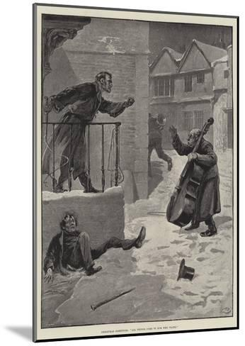 Christmas Greetings, All Things Come to Him Who Waits-Gordon Frederick Browne-Mounted Giclee Print