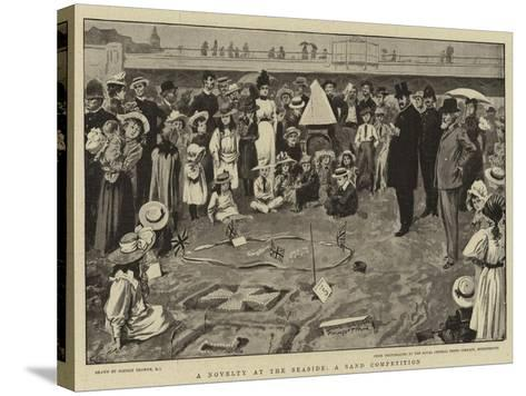 A Novelty at the Seaside, a Sand Competition-Gordon Frederick Browne-Stretched Canvas Print