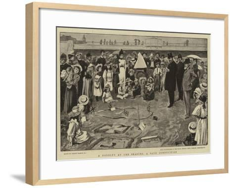 A Novelty at the Seaside, a Sand Competition-Gordon Frederick Browne-Framed Art Print