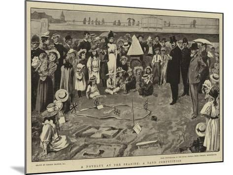 A Novelty at the Seaside, a Sand Competition-Gordon Frederick Browne-Mounted Giclee Print