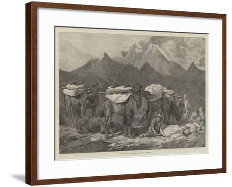 Transporting Merchandise in Eastern Turkestan-Guillaume Regamey-Framed Art Print