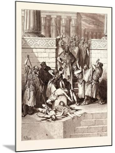 The Slaughter of the Sons of Zedekiah-Gustave Dore-Mounted Giclee Print