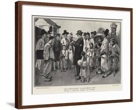 With a Survey Party in Korea-Gordon Frederick Browne-Framed Art Print