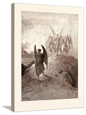 Satan Vanquished-Gustave Dore-Stretched Canvas Print