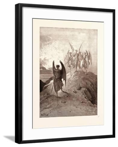 Satan Vanquished-Gustave Dore-Framed Art Print