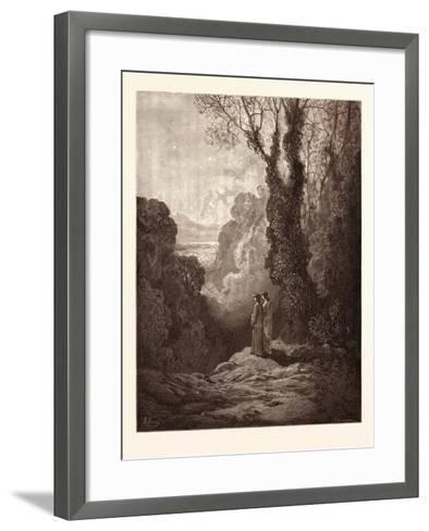 The Threshold of Purgatory-Gustave Dore-Framed Art Print