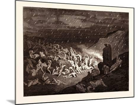 The Torture of the Fiery Rain-Gustave Dore-Mounted Giclee Print