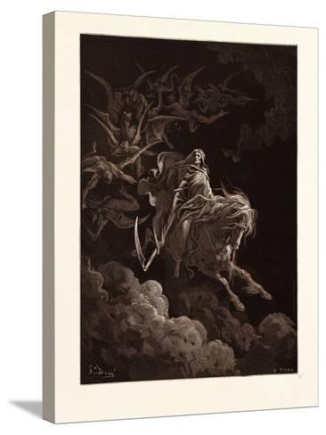 The Vision of Death-Gustave Dore-Stretched Canvas Print