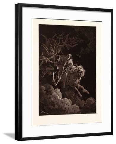 The Vision of Death-Gustave Dore-Framed Art Print