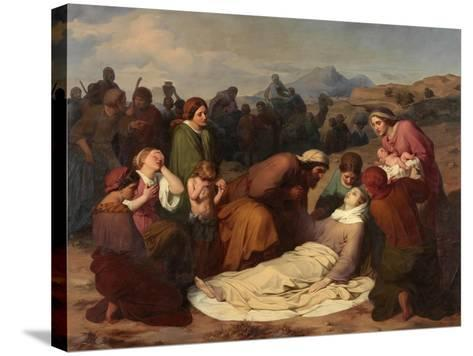 Death of Rachel, 1847-Gustave Metz-Stretched Canvas Print
