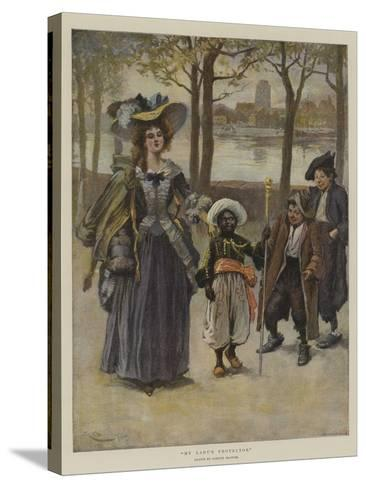 My Lady's Protector-Gordon Frederick Browne-Stretched Canvas Print