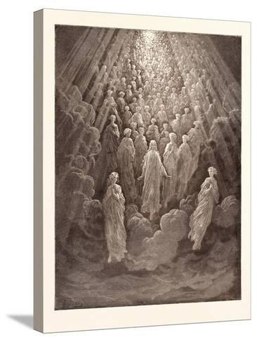 The Angels in the Planet Mercury-Gustave Dore-Stretched Canvas Print