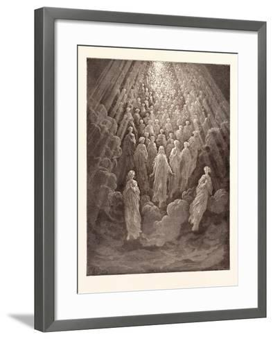 The Angels in the Planet Mercury-Gustave Dore-Framed Art Print