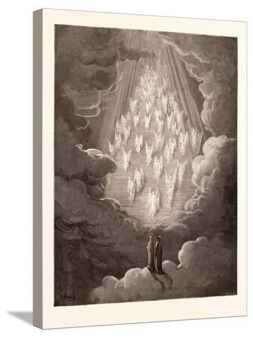 The Vision of the Golden Ladder-Gustave Dore-Stretched Canvas Print