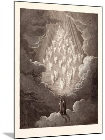 The Vision of the Golden Ladder-Gustave Dore-Mounted Giclee Print