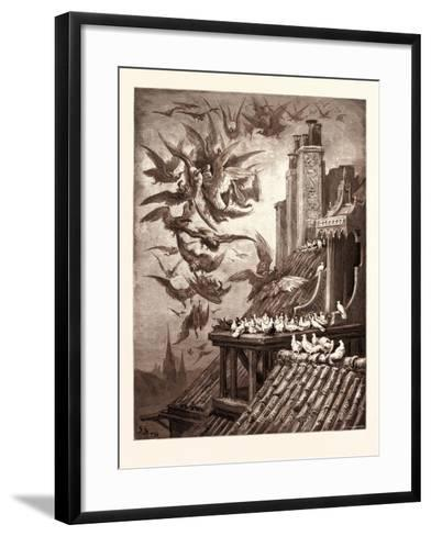 The Vultures and the Pigeons-Gustave Dore-Framed Art Print