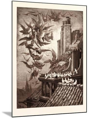 The Vultures and the Pigeons-Gustave Dore-Mounted Giclee Print
