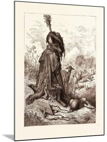 The Wolf Turned Shepherd-Gustave Dore-Mounted Giclee Print