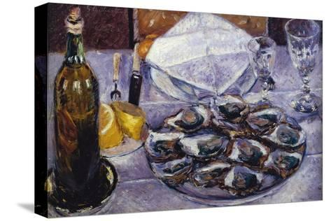 Still Life with Oysters, 1881-Gustave Caillebotte-Stretched Canvas Print