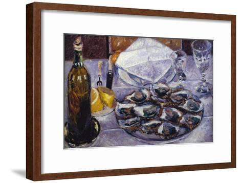 Still Life with Oysters, 1881-Gustave Caillebotte-Framed Art Print