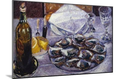 Still Life with Oysters, 1881-Gustave Caillebotte-Mounted Giclee Print