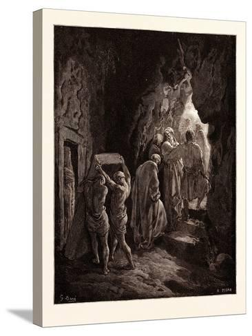 The Burial of Sarah-Gustave Dore-Stretched Canvas Print