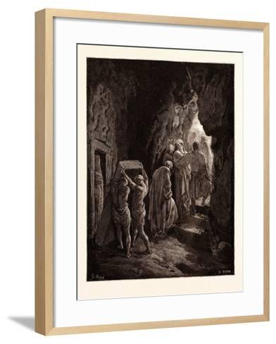 The Burial of Sarah-Gustave Dore-Framed Art Print