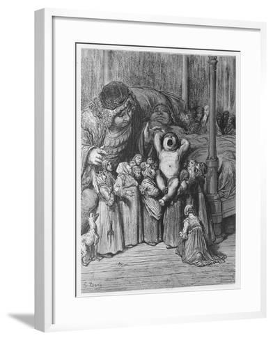 The Birth of Gargantua from 'Gargantua and Pantagruel', by François Rabelais-Gustave Dore-Framed Art Print