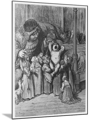 The Birth of Gargantua from 'Gargantua and Pantagruel', by François Rabelais-Gustave Dore-Mounted Giclee Print